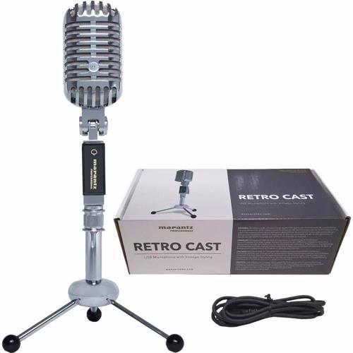 Microfone Marantz Podcast Profissional Retro Cast USB