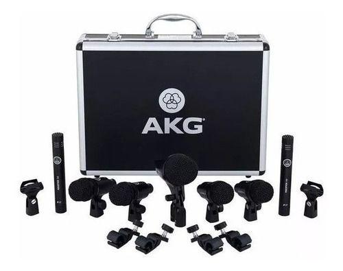 Kit Microfone Drum Set Session 1 Pack para Bateria (7 peças) - AKG
