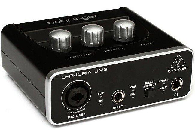 Interface De Áudio Behringer Um2 Usb U-phoria