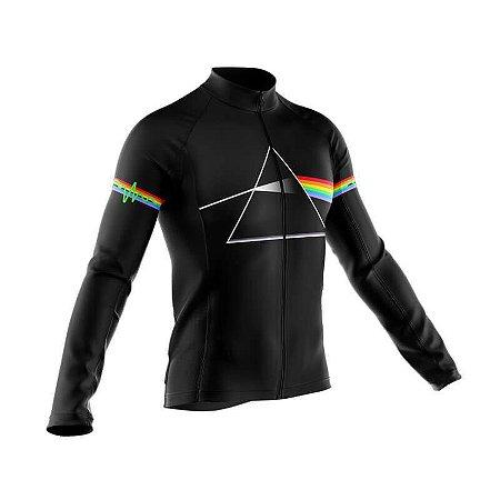 Camisa Pink Floyd Manga Longa Esporte Bicicleta Fitness Mtb
