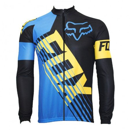 Camisa Fox Manga Longa Mtb Esportiva Ciclista Elastico Ziper