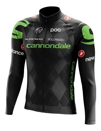 Camisa Cannondale Manga Longa Esportes Bolso Bike Dry Fit