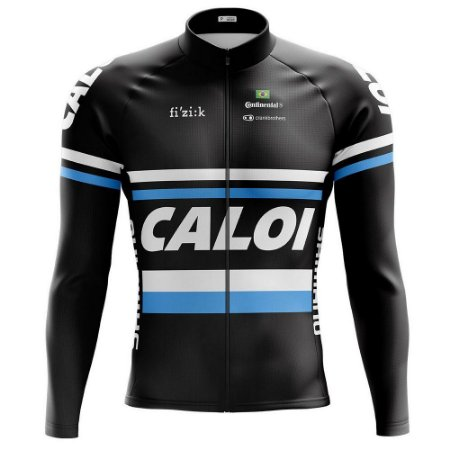 Camisa Caloi Manga Longa Esportiva Ciclista Fitness Dry Fit