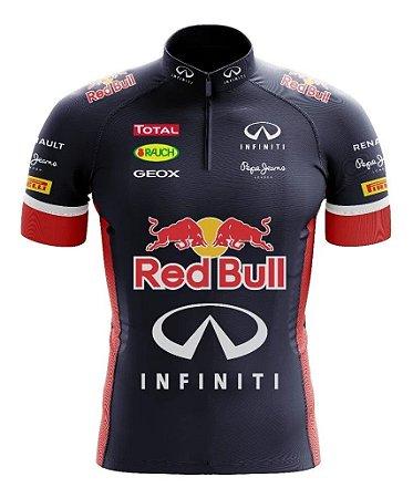 Camisa Infantil Ciclismo Red Bull Bike Uv Confortável Dry Fit Respirável
