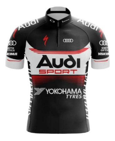 Camisa Infantil Audi  Bike UV Confortável Dry Fit Respiravel