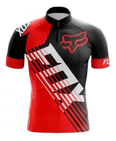 Camisa Infantil Fox Vermelha Bike Confortável Dry Fit Fitness Mtb
