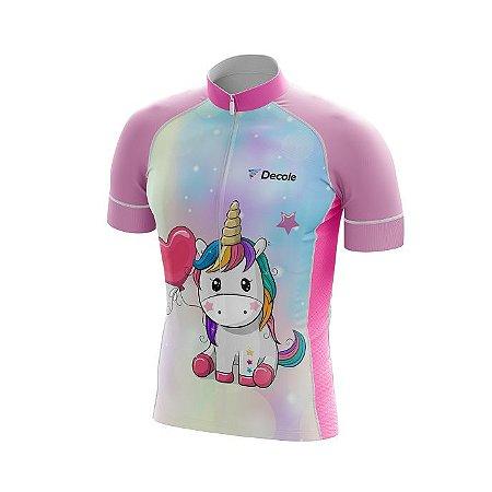 Camisa Infantil Unicórnio Ciclismo Fitness Bike Dry Fit