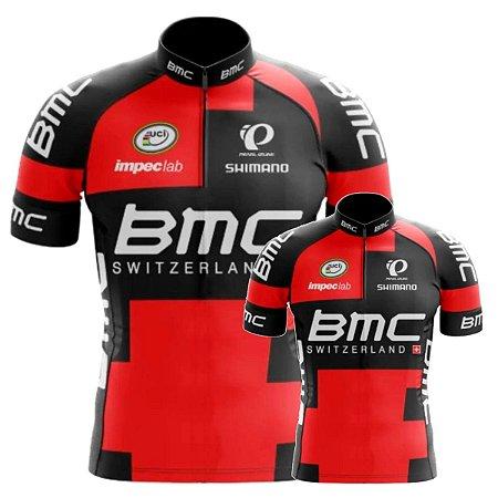 Conjunto Camisa BMC Pai E Filho Ciclismo Treino Respirável