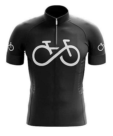 Camisa Manga Curta Forever Fitness Ciclista Ziper Elástico