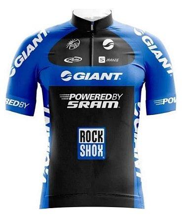 Camisa Manga Curta Ziper Bike Ciclismo Mtb Dry Fit Esporte Giant