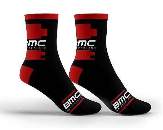 Meia BMC Ciclismo Mtb Cano Longo Bicicleta Confortável
