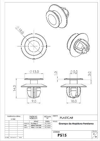 GRAMPO MOLDURA PARALAMA (L200 SPORT/TRITON/PAJ/PAJ DAKAR AZUL)