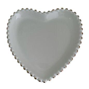 Coração Cerâmica Branco FR194238
