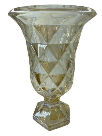 Vaso C/ Pé Diamond Âmbar 15x24 7758