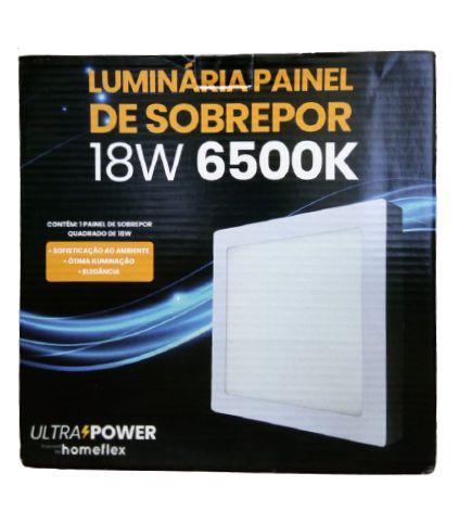 Painel Quadrado de Sobrepor 18W 6500K