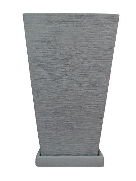 Vaso Quadrado Grande com Prato Cores Sortidos
