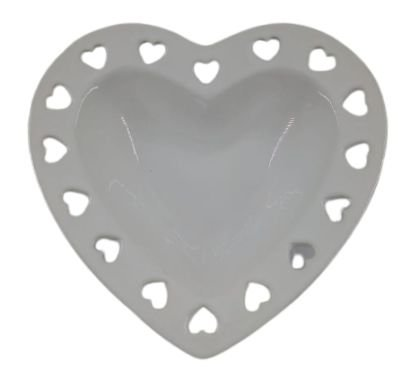 Porta Anéis Coração Branco