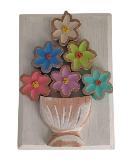 Quadrinho Flores Madeira