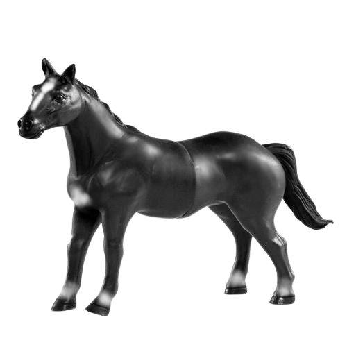 Cavalo Preto de Vinil VB167