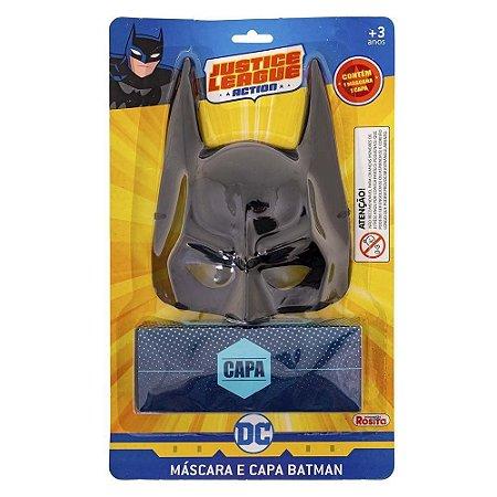 Máscara e Capa Batman Liga da Justiça