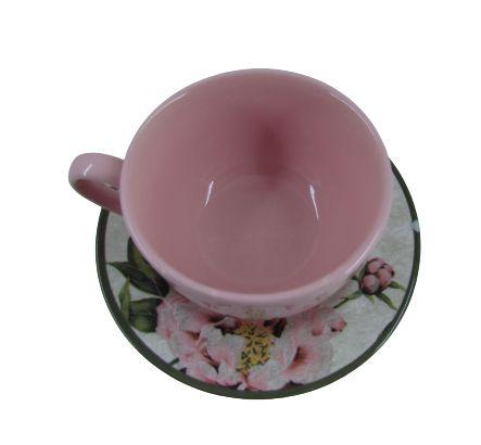 Xícara de Chá com Pires Peônia