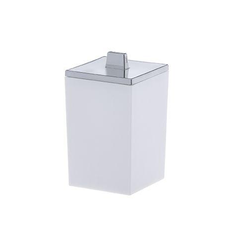 Porta Algodão/Cotonete Quadratta - Branco