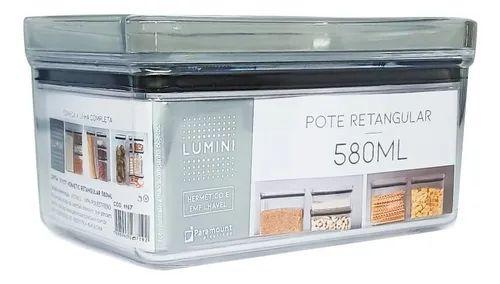 Pote Hermético Lumini Retangular 580ML