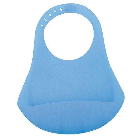Babador de Silicone para Bebê – Azul