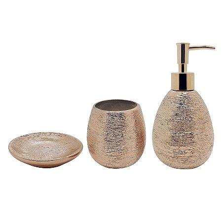 Conjunto Banheiro Lunar 3 Peças - Bronze