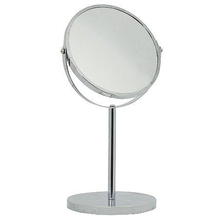 Espelho de Aumento Base - Inox Prata