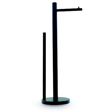 Porta Papel Higiênico Inox / Black