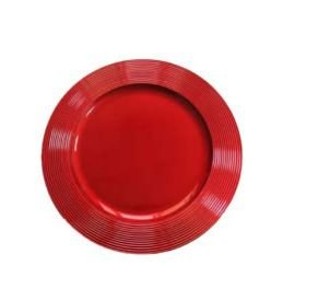 Sousplat Conjunto Decor com Frizo 6 Unidades 33CM - Vermelho
