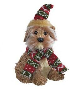 Enfeite Natal Cachorro em Pé 12x14x17CM
