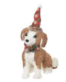 Enfeite Natal Cachorro em Pé 28x17,5CM