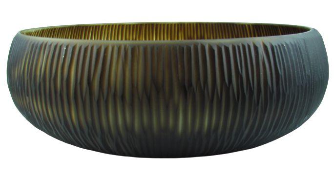 Vaso Decor de Vidro 10CMxØ29 - Marrom