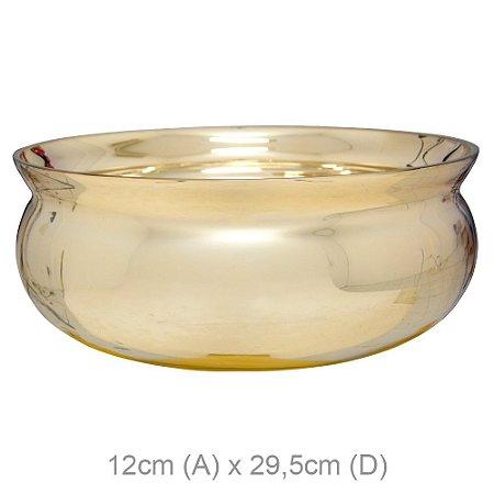 Vaso de Vidro Bacia 12x29,5Ø - Dourado