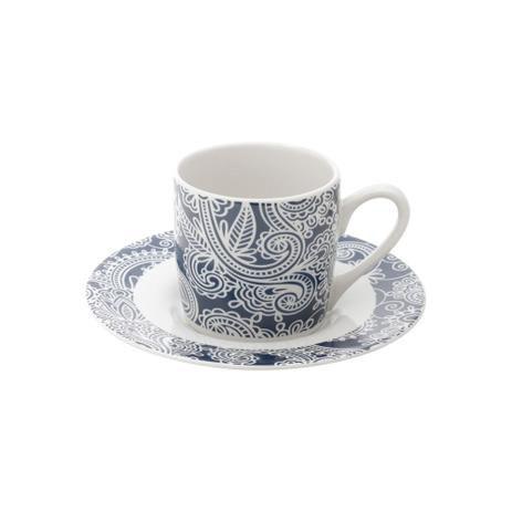 Conjunto 6 Xicaras para Café Blue Floral