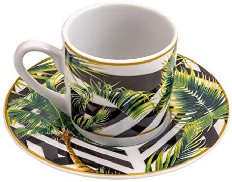 Conjunto 6 Xicaras para Café Tropical Garden