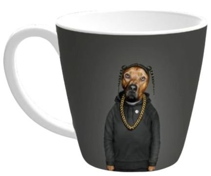 Caneca Pets Rock Rap Grey 405ML