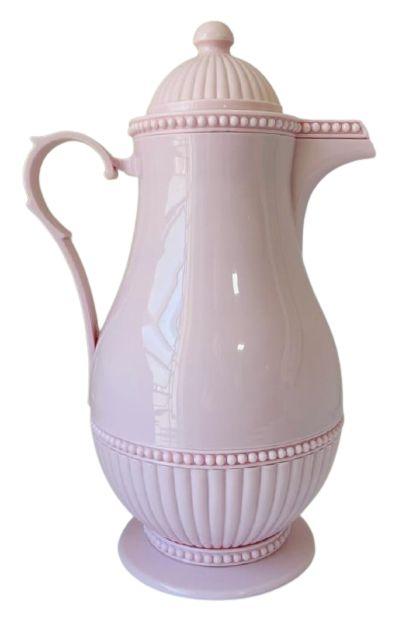 Garrafa Térmica Plástico Rosa Vintage 1L