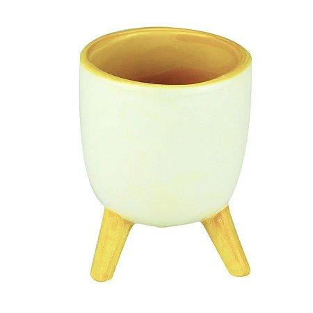 Cachepo Cerâmica Tripé Yellow 44334