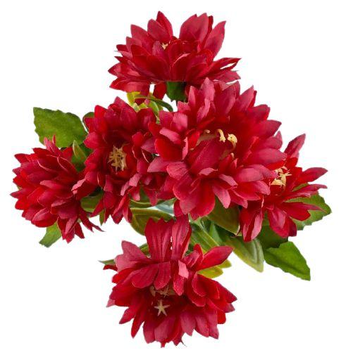 Buque Dalia X5 28CM Vermelho Claro Mesclado 06259
