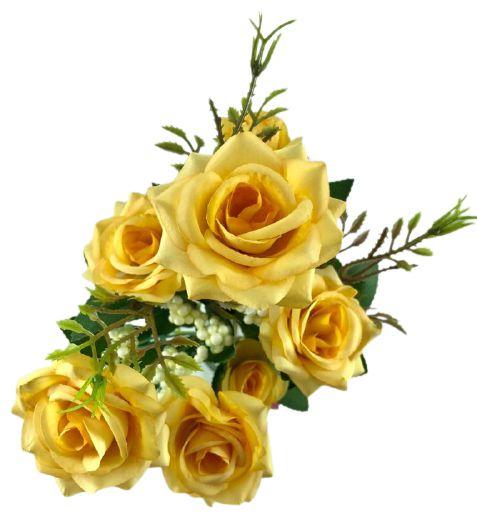 Buque Rosa Diamante X6 30CM Amarelo 03322