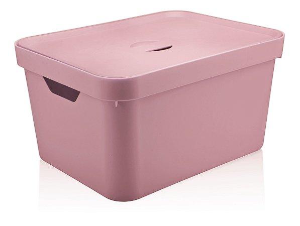 Caixa Organizadora Grande Rosa Quartzo C/Tampa 32L CC650