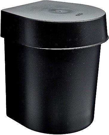 Lixeira de Pia Preto 3,5L Hide LX710