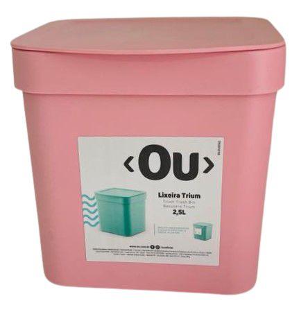 Lixeira Rosa Quartzo Trium 2,5L LX500