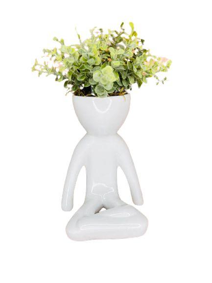Vaso Cerâmica BOB Yoga M Branco