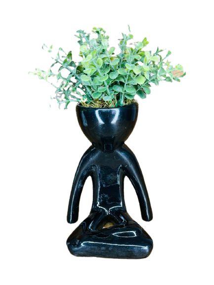 Vaso Cerâmica BOB Yoga M Preto