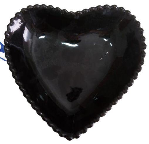 Coração Cerâmica Grade Preto 14,5 x 14,5 2008082