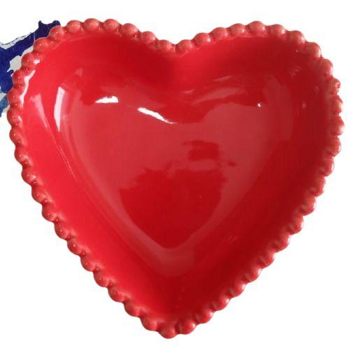 Coração Cerâmica Grande Vermelho 14,5 x 14,5